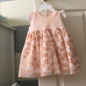 Formal infant dress with sparkle embellishments